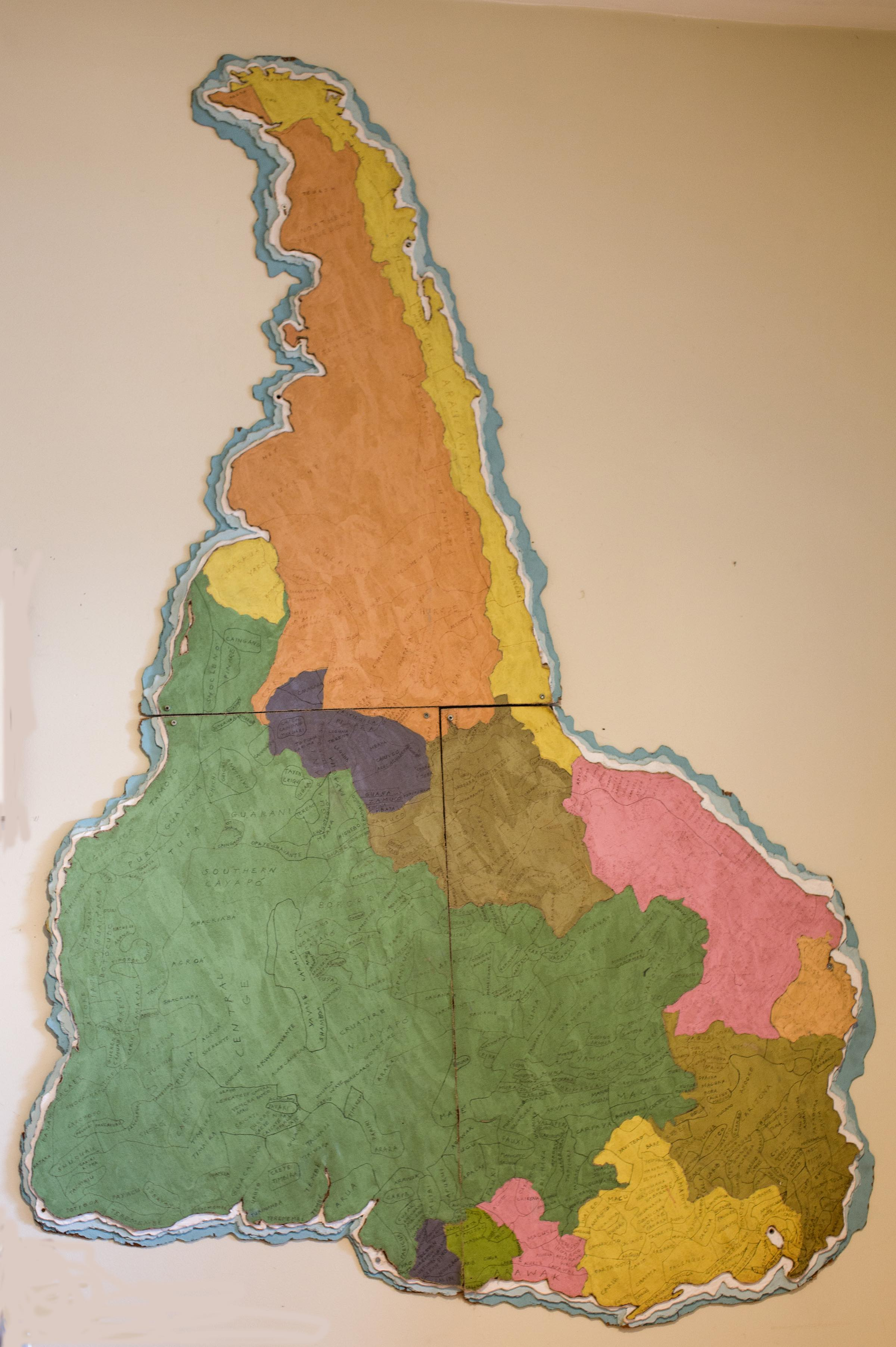 Indigenous map of South America.
